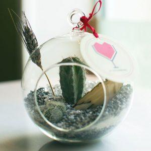 Флорариум с агатом и кактусом от LUBLU